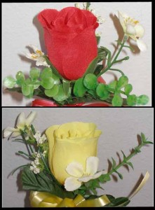 Niche Rose Buds Available in Yellow or Red $12.00