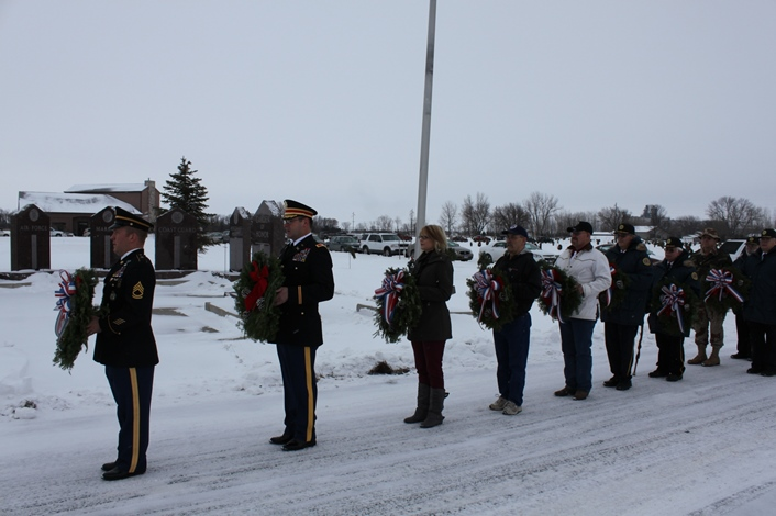 Holiday Memorial Service Aberdeen SD 2013 Veteran wreath placement