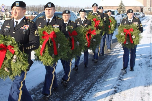 march to wreath placement 2016 Sunset Aberdeen cemetery holiday service