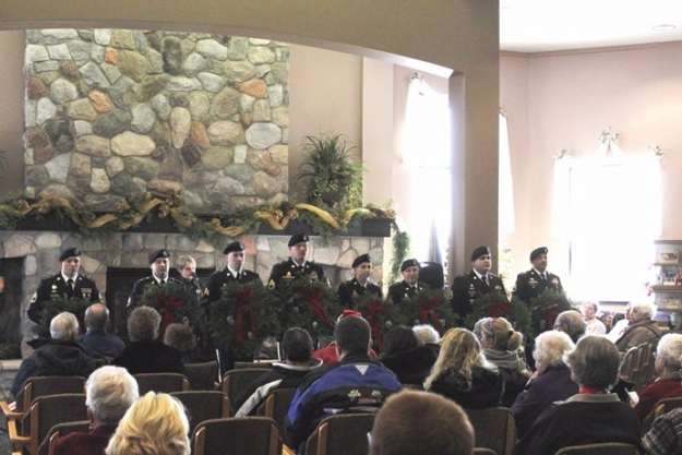 military 2016 Sunset Aberdeen cemetery holiday service