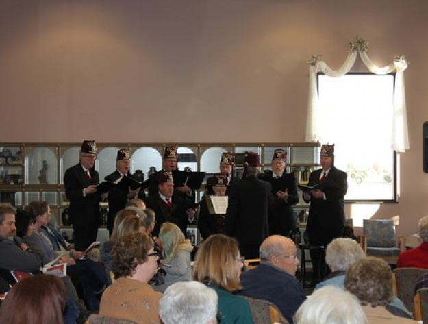 Shriners playing Aberdeen cemetery Holiday memorial