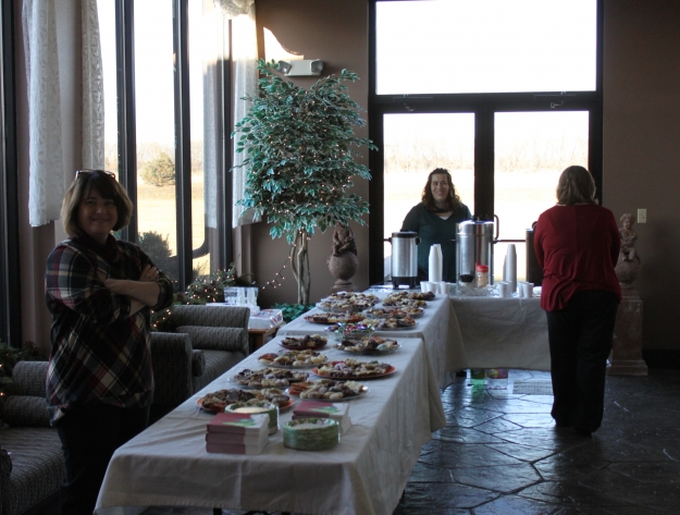lunch at the Holiday Memorial Service