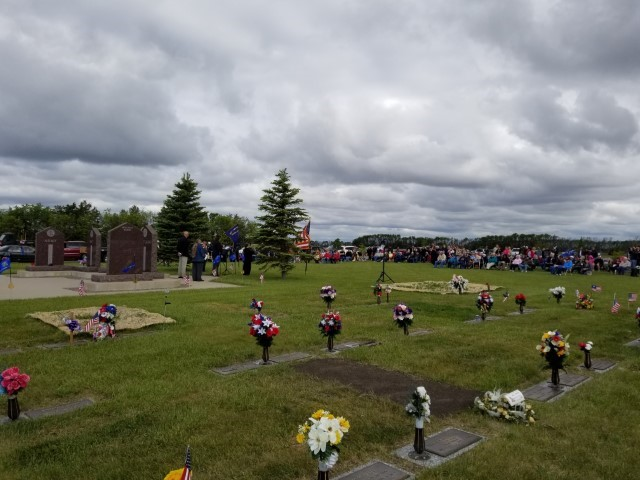 Memorial Day crowd recognizing veterans Aberdeen SD