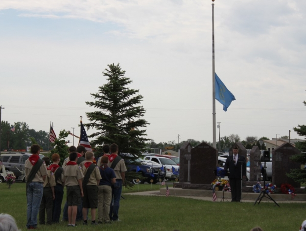 Boy Scouts Memorial Day Service Aberdeen SD cemetery